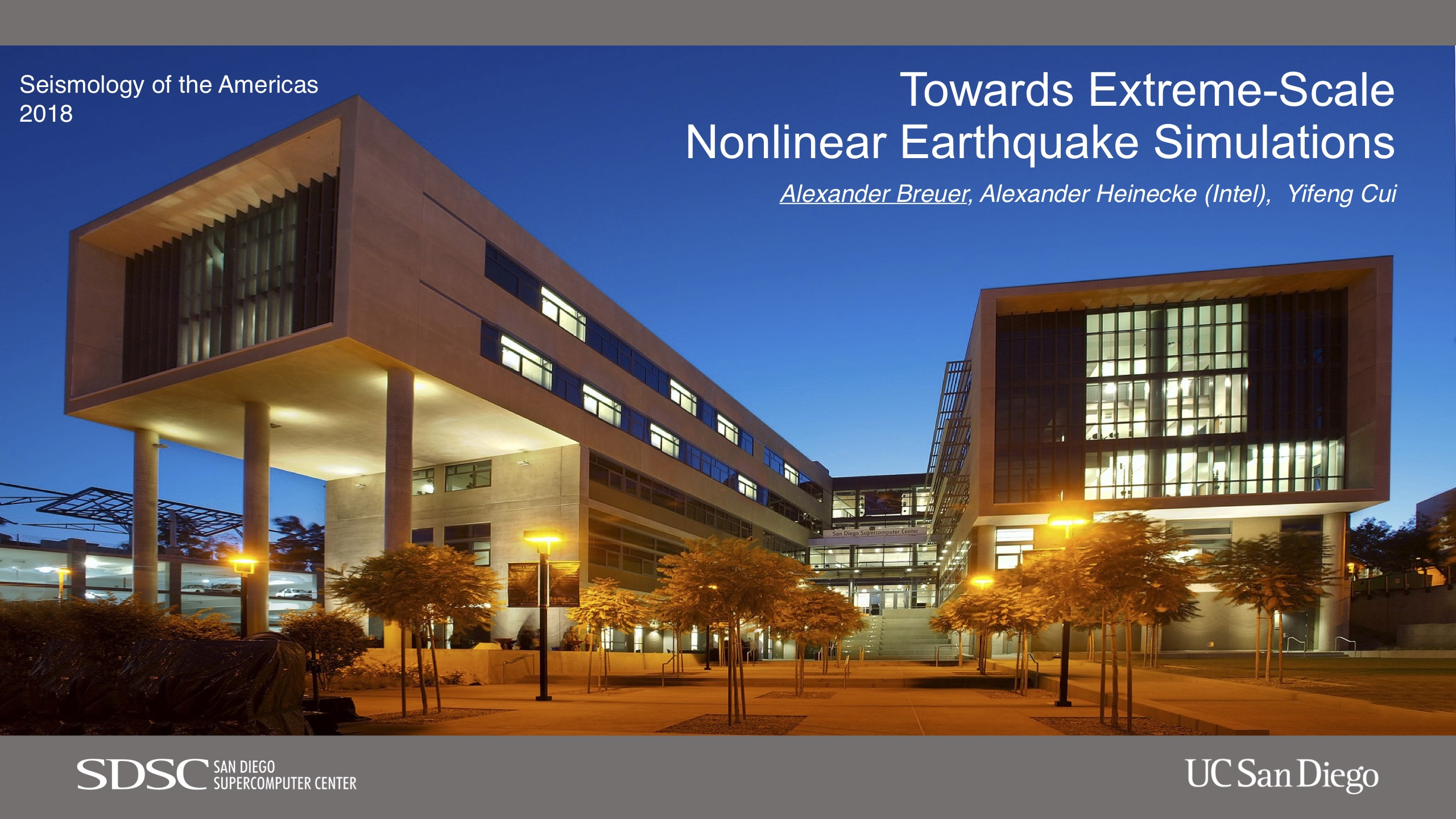 Slides of presentation Towards Extreme-Scale Nonlinear Earthquake Simulations